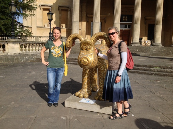 "With the ""Golden Gromit"" in Bristol, England. September 2013"