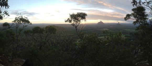 Sunrise on from Mt. Tibrogargan