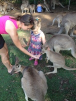 Feeding the joey with Maddi!